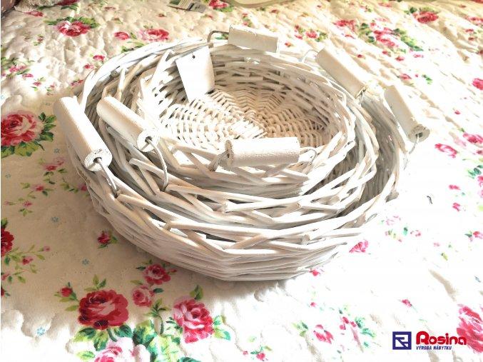 Set 3 bielych prútených tácok 31cm,21cm,20 cm, 25,00€, 4379600TRE