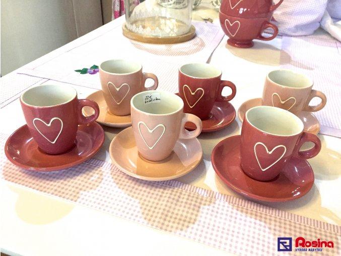 Set 6 šálok + tanierikov Srdiečko ružové 22,00€, 34342TRE
