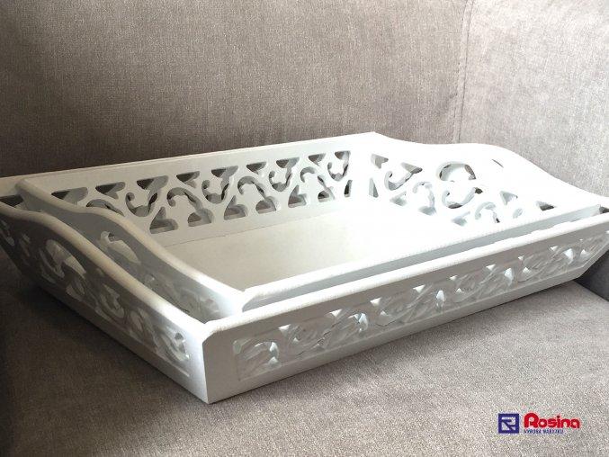 Set bielych tácok Provence 44x31cm a 37x27cm, 39,00€, TRE