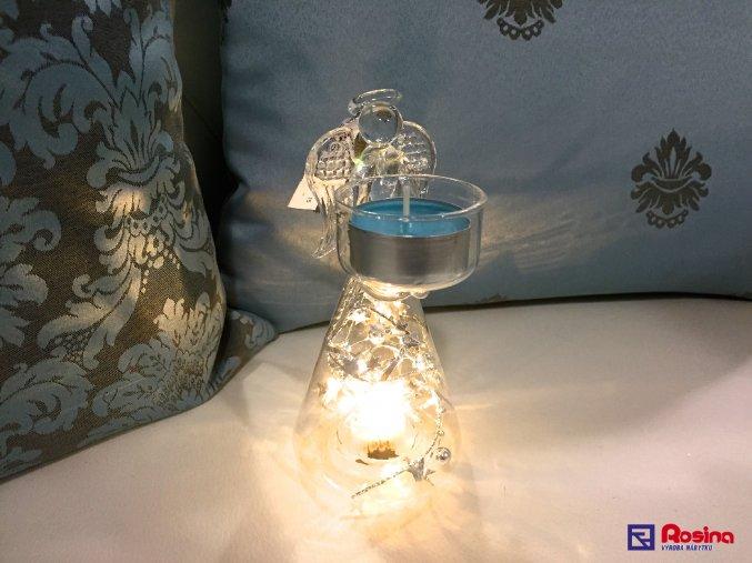 Sklenený anjelik svietiaci menší 13cm, 14,50€, 036735856HAR