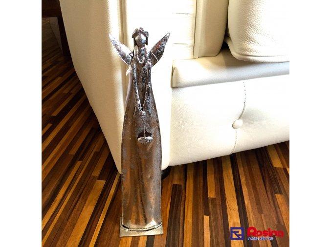 Soška Anjel strieborný malý 32cm, 25,70€, 015GP020002346HAR