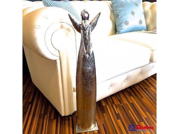 Soška Anjel strieborný veľký 71cm, 64,40€, 015GP020002042HAR