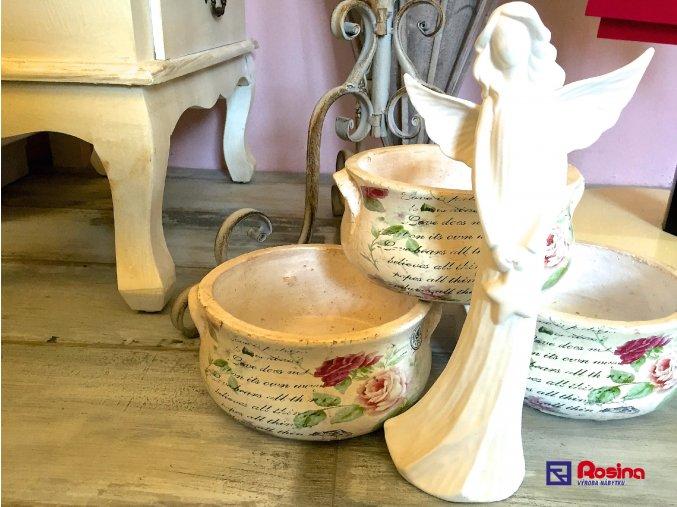 Soška Anjelik biely s hviezdičkou stredný 30cm, 17,90€, 15578HAR