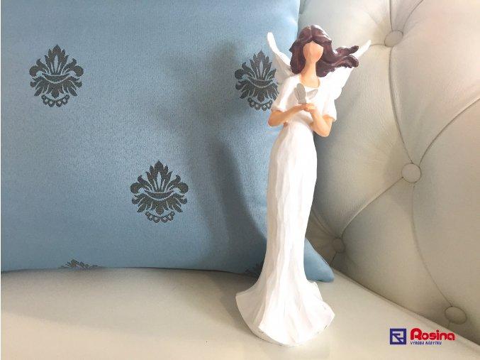 Soška Anjelik biely s motýľom 25cm, 23,00€, 725088TRE