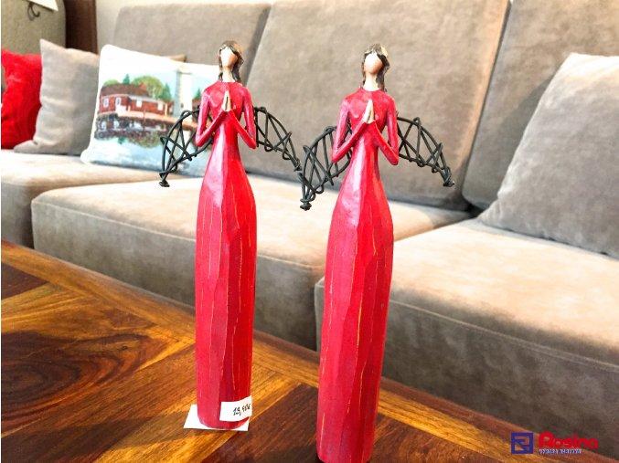 Soška Anjelik červený modliaci 22cm, 13,90€, 414034TRE