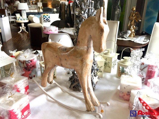 Soška Drevenný koník 39,5x36cm, 77,00€, 6H0934TRE