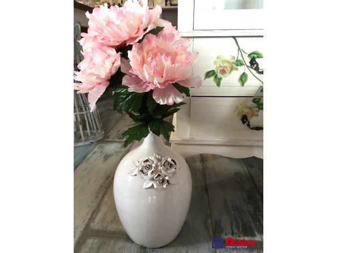 Biela Váza Provence s ružami 39cm, 54,00€, TRE