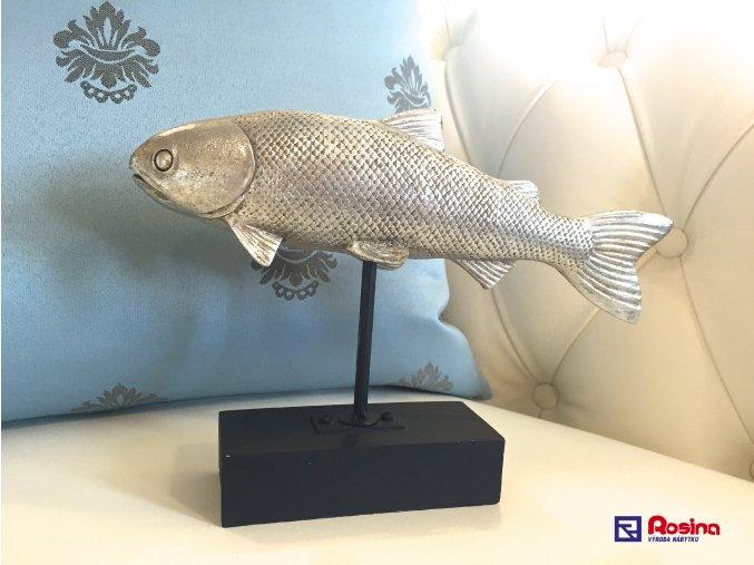 Soška  Ťažítko Ryba strieborná 17x24,5cm, 15,00€, 210264TRE