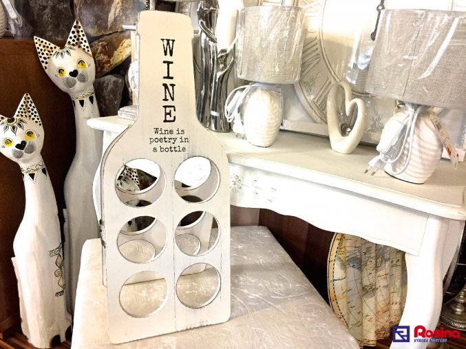Stojan na vína White Wine 6xfľaša, 21,60€, 61x22 cm, 1194800TRE