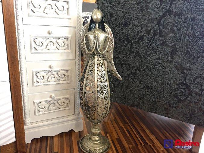 Strieborný anjel kovový stredný 71cm, 95,00€, 745258TRE