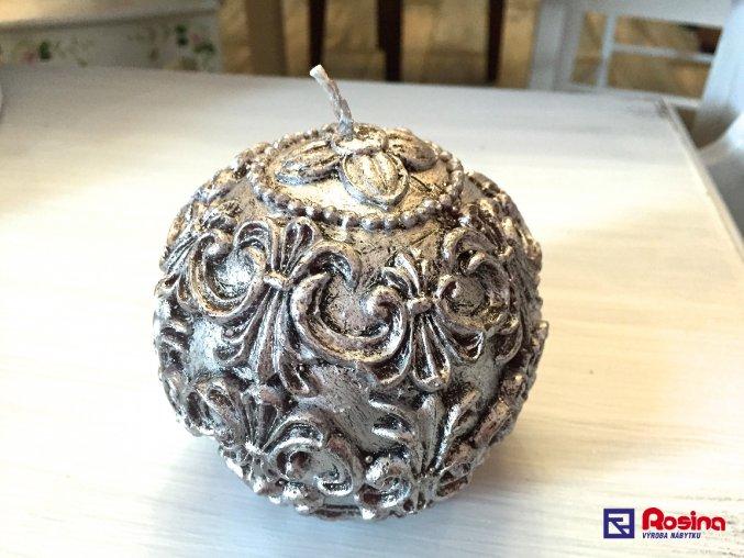 Sviečka Strieborná guľa 10x10cm, 13,30€