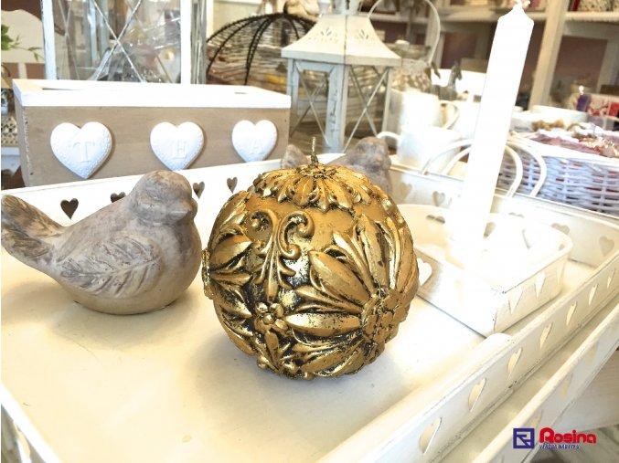 Sviečka Zlatá guľa 10x10cm, 13,30€, ART