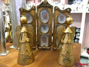 Svietnik  soška zlatý anjelik 22cm, 15,00€, 036739979HAR