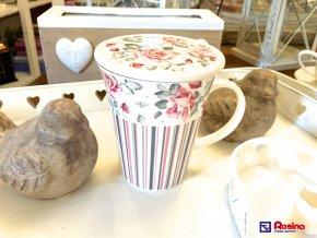 Šálka Rose na sypaný čaj so sitkom 10cm, 14,50€, 92500ART