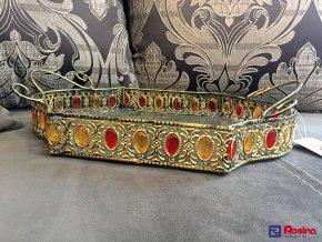Tácka Zlatá s kamienkami 39x26cm, 20,90€, 1015400TRE
