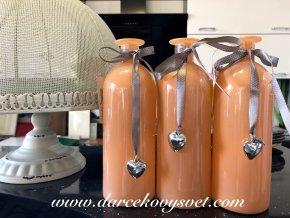 Váza Oranžová so srdiečkom 20,5cm, 4,00€, 5297400TRE