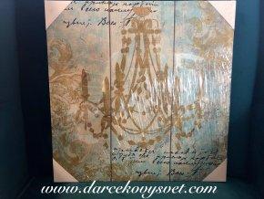 Obraz so zlatým lustrom 40x40cm, 5,80€, 2208900TRE