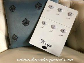 Biela tabuľka Keys 30x20cm, 8,00€, 8417300TRE