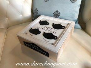 Krabička na čaj Maison De Campagne 24x24cm, 22,80€, 69015ART