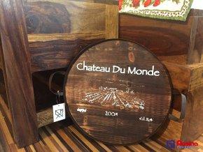 Drevená tácka hnedá Chateau Du Monde 33x33cm, 14,00€, 2786200TRE
