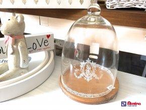Drevený podnos + sklenený poklop Romantic 23cm, 15,90€, 94375ART