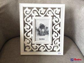 Fotorámik Biely Provence 28x24cm, rozmer fotky 9x13cm, 15,00€, TRE