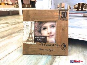 Hnedý fotorámik Paris 19x19cm, 7,20€, 94397ART