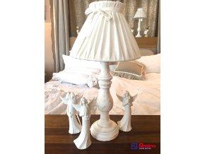 Lampa Provence biela s mašličkou