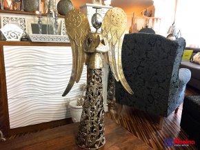 Kovový Anjel Zlatý veľký 67cm, 99,00€, 2100315TRE