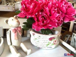 Kvetináč Provence s ružičkami 10,5x25x23cm, 11,90€, 75204ART
