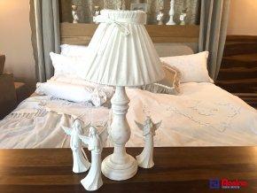 Lampa Provence biela s mašličkou 52cm, 79,00€, 16455TRE