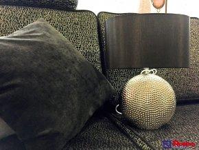 Lampa Strieborná s čiernym cylindrom 39,5cm, 79,00 €, 2785000TRE