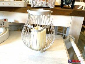 Lampáš Moderný biely na baterky 22cm, 33,90€