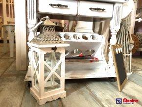 Lampáš Provence bielo strieborný 43cm, 39,90€,81632ART