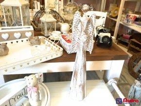 Anjel bielo zlatý veľký so srdcom 52cm, 31,70€, 00102B04878HAR