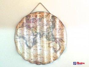 Obraz Mapa guľatá, 77x77cm, 79,00€,33333TRE