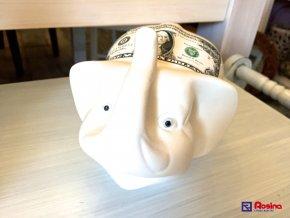 Pokladnička Sloník 14x18cm, 13,30€