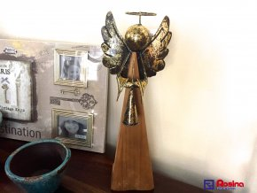 Anjel Zlatý stredný 52cm, 48,00€, 1136100TRE