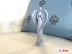 Soška Anjelik modrý modliaci 16,5cm, 5,50€, 2396PEJ