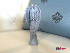 Soška Anjelik modrý stojaci 16,5cm, 5,50€, 2396 PEJ