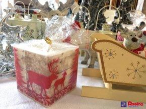 Sviečka Vianočná hranatá 9x9cm, 7,90€, 262015ART