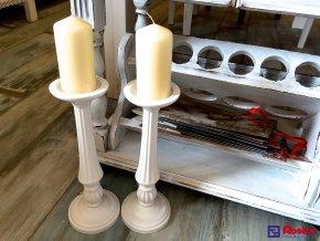 Svietnik Provence biely 33cm, 18,80€, 82570ART