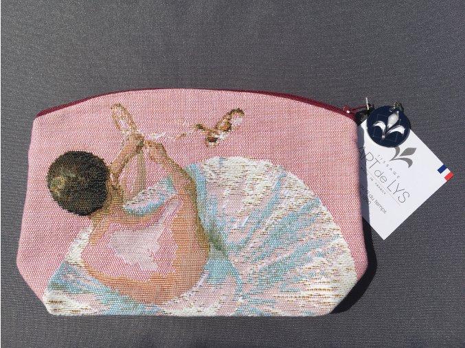Ručně tkaná taštička s baletkami I.