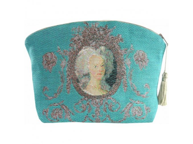 cosmetic bag portrait of marie antoinette pink (1)