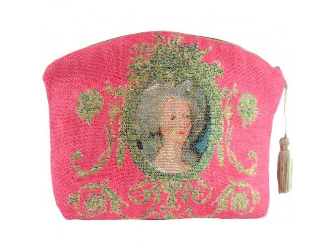 cosmetic bag portrait of marie antoinette pink