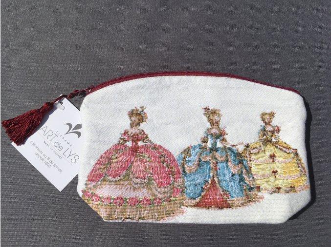 Ručně tkaná taštička s motivem panovnic