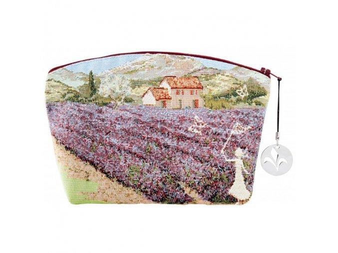 cosmetic bag cosmetic bag lavender field (1)