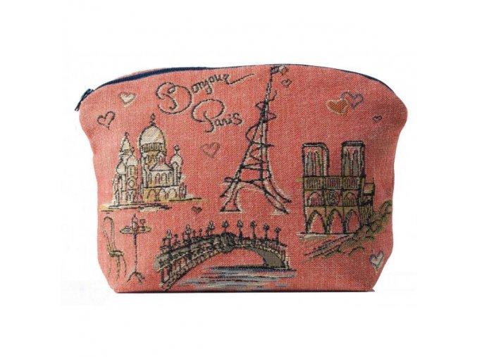 cosmetic bag bonjour paris