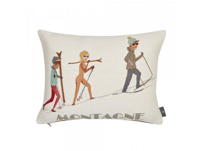 tapestry cushion cover ski walking