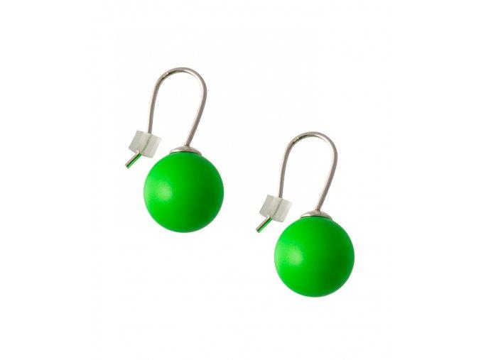 Neonové náušnice zelené